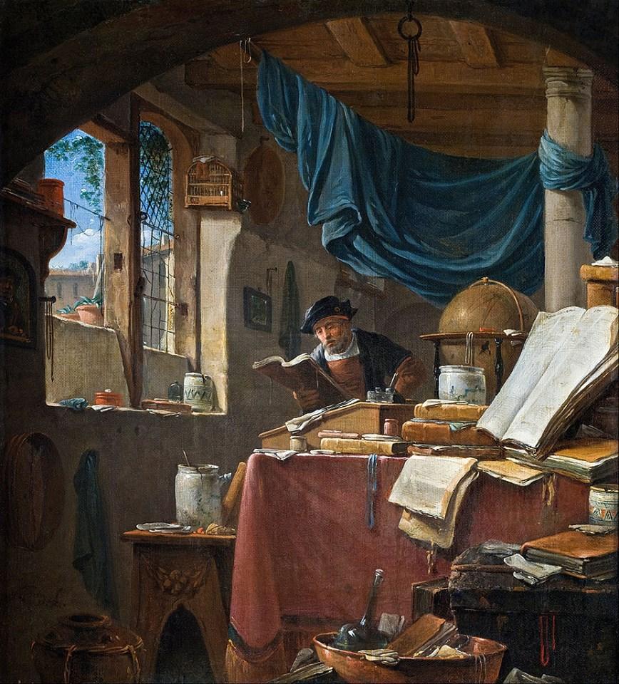 A Scholar in His Study by Thomas Wyck c 1650.jpg