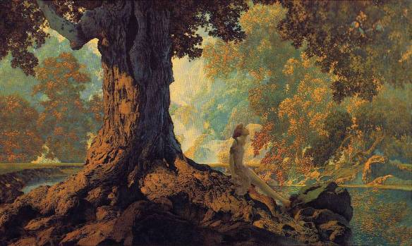 Dreaming or October by Maxfield Parrish 1928.jpg