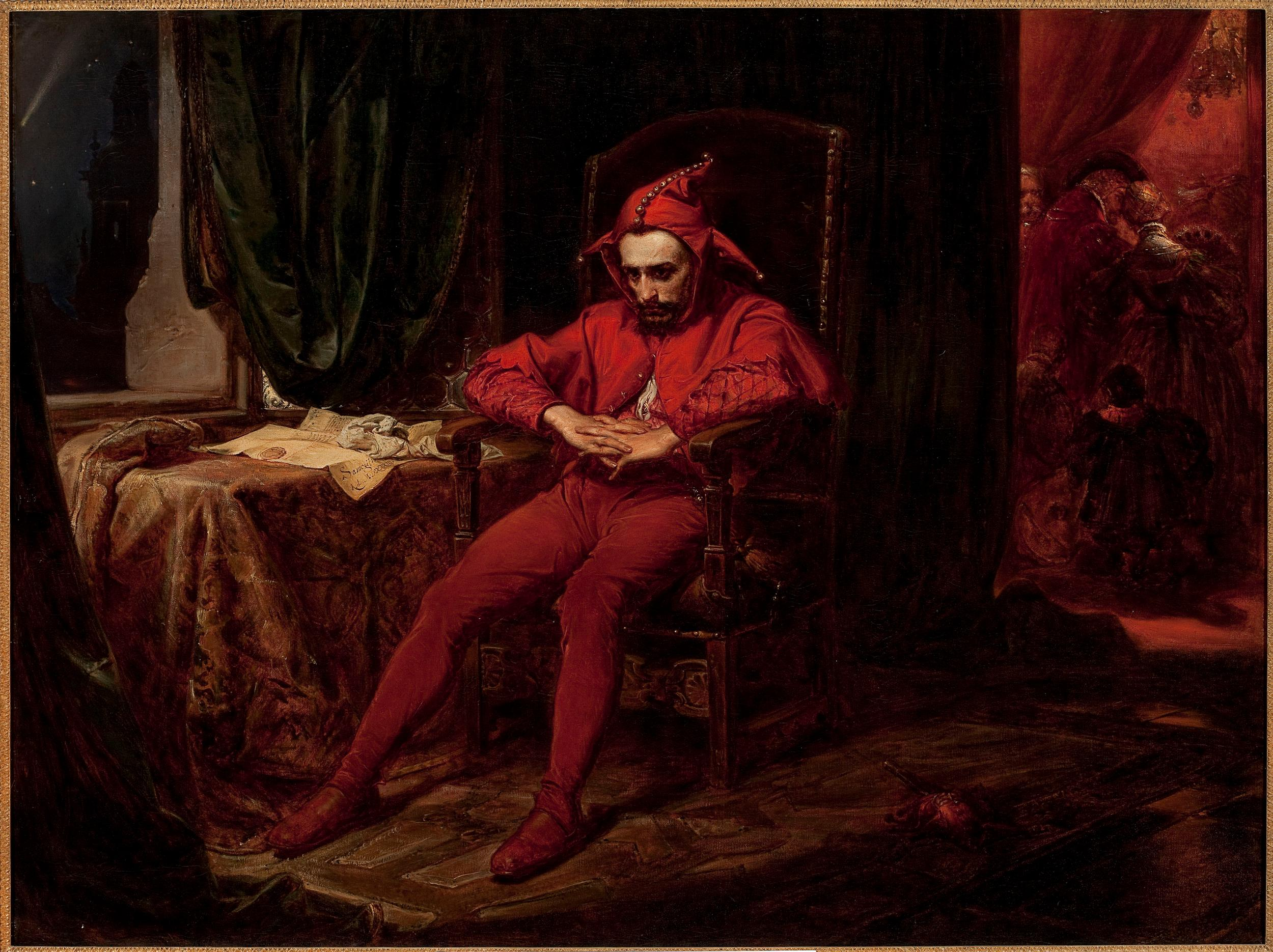 Stanczyk during a Ball at the Court of Queen Bona after the Loss of Smolensk by Jan Matejko 1862